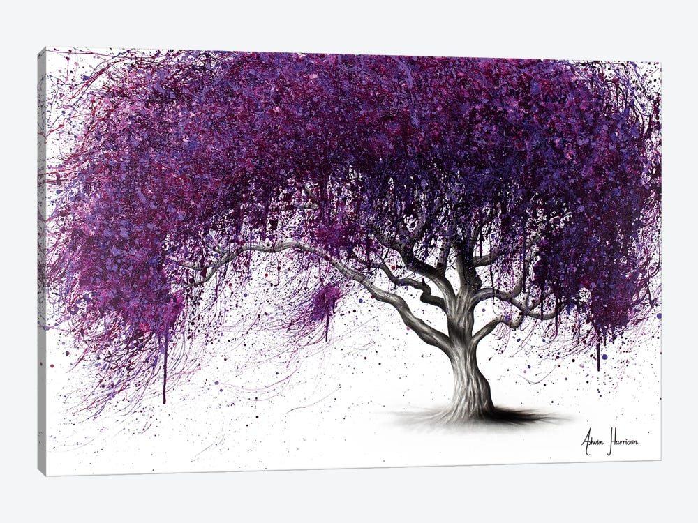 Violet Shadows by Ashvin Harrison 1-piece Canvas Artwork