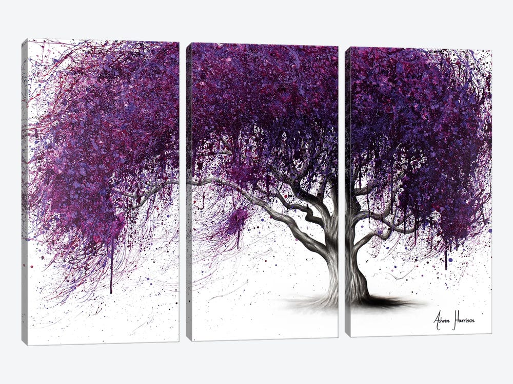 Violet Shadows by Ashvin Harrison 3-piece Canvas Wall Art