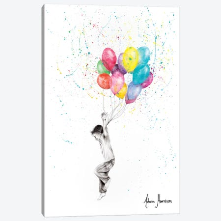 Joy Of Balloon Boy Canvas Print #VIN388} by Ashvin Harrison Canvas Wall Art