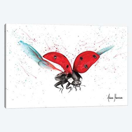 Lady Bug Bliss Canvas Print #VIN389} by Ashvin Harrison Canvas Artwork