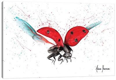 Lady Bug Bliss Canvas Art Print