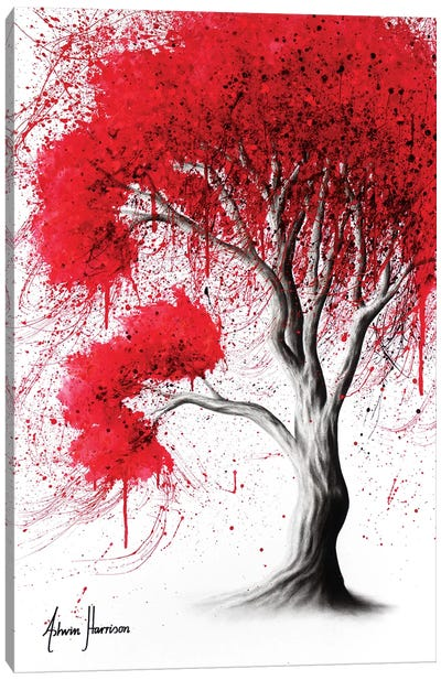 Scarlet Fall Tree Canvas Art Print