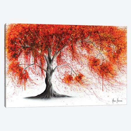 Crisp Amber Tree Canvas Print #VIN399} by Ashvin Harrison Canvas Art Print
