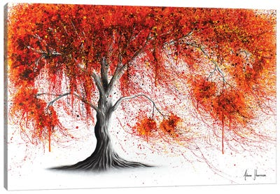 Crisp Amber Tree Canvas Art Print