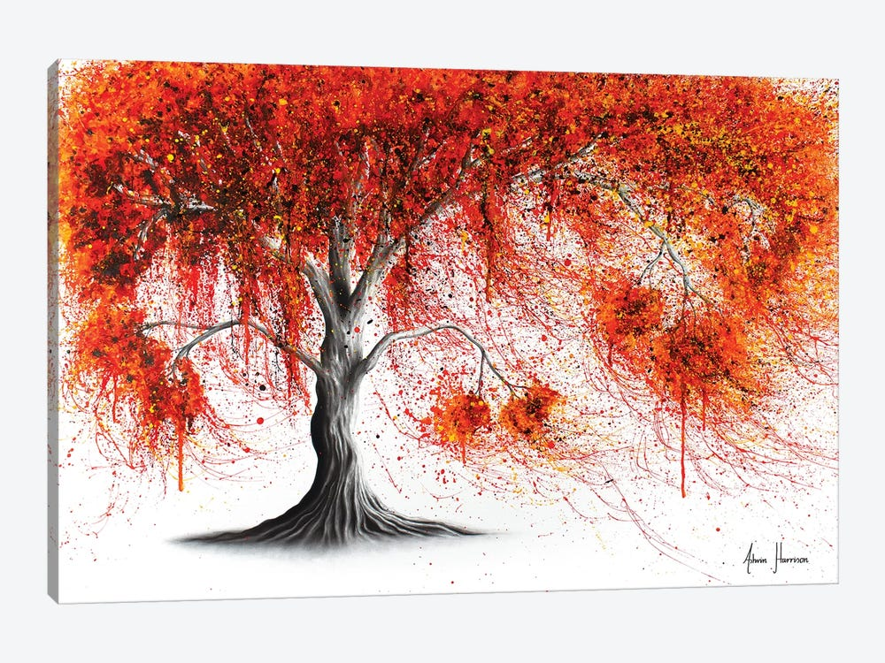 Crisp Amber Tree by Ashvin Harrison 1-piece Canvas Wall Art