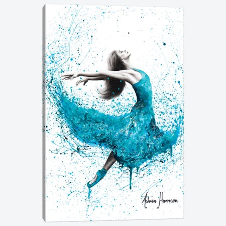 Turquoise Rain Dancer Canvas Print #VIN401} by Ashvin Harrison Canvas Print
