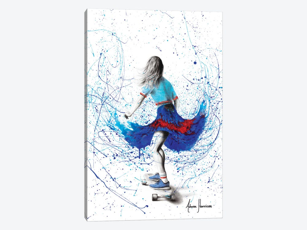 Skater Girl by Ashvin Harrison 1-piece Canvas Artwork