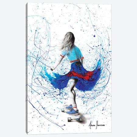 Skater Girl Canvas Print #VIN407} by Ashvin Harrison Canvas Wall Art