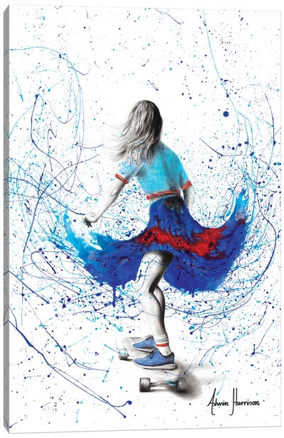 Skater Girl Canvas Art Print