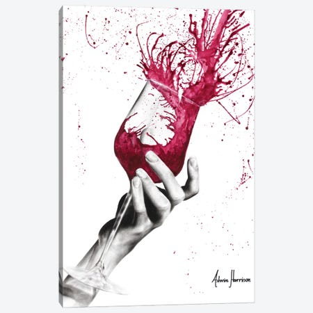 Wine Twirl Canvas Print #VIN417} by Ashvin Harrison Canvas Art Print