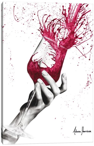 Wine Twirl Canvas Art Print