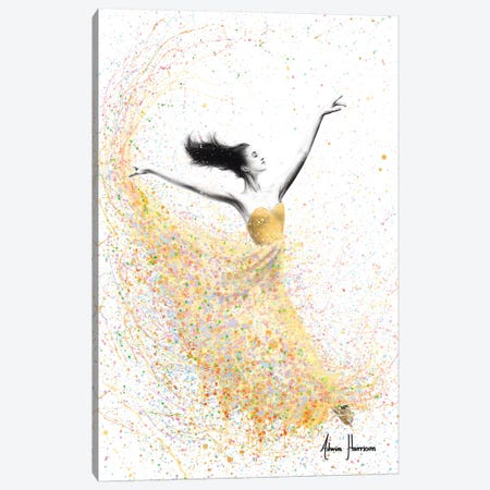 Golden Shimmer Dance Canvas Print #VIN418} by Ashvin Harrison Canvas Artwork