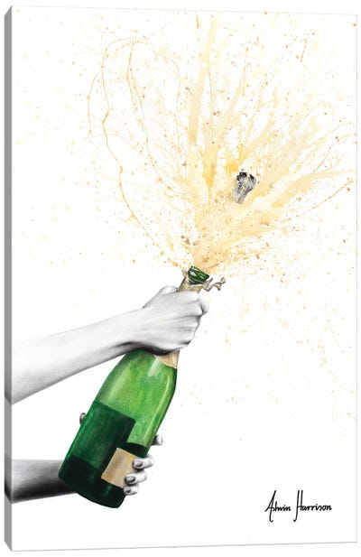 Champagne Celebration Canvas Art Print