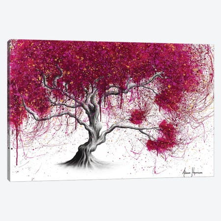 Magenta Kissing Tree Canvas Print #VIN427} by Ashvin Harrison Canvas Wall Art