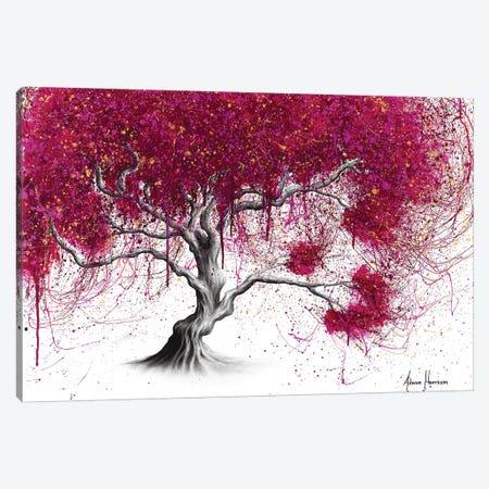 Magenta Kissing Tree Canvas Print #VIN427} by Ashvin Harrison Canvas Wall Art