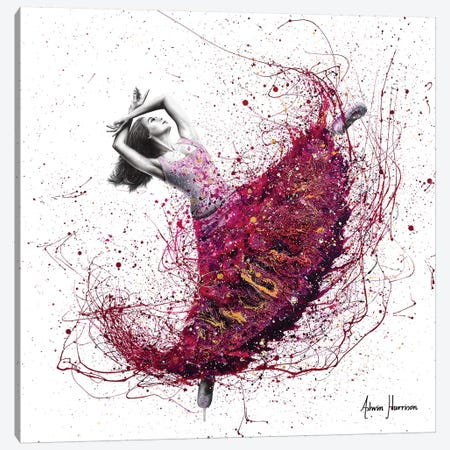 Magenta Night Dance Canvas Print #VIN428} by Ashvin Harrison Art Print
