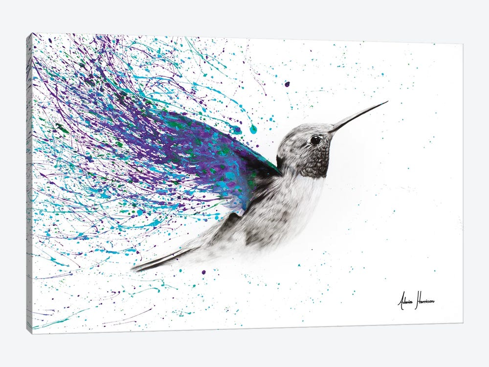Hummingbird Garden by Ashvin Harrison 1-piece Art Print