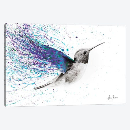 Hummingbird Garden Canvas Print #VIN42} by Ashvin Harrison Art Print