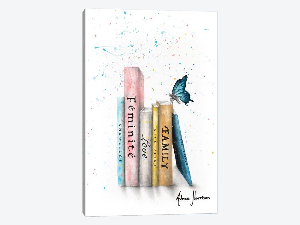 Books Of Her Journey by Ashvin Harrison 1-piece Canvas Artwork
