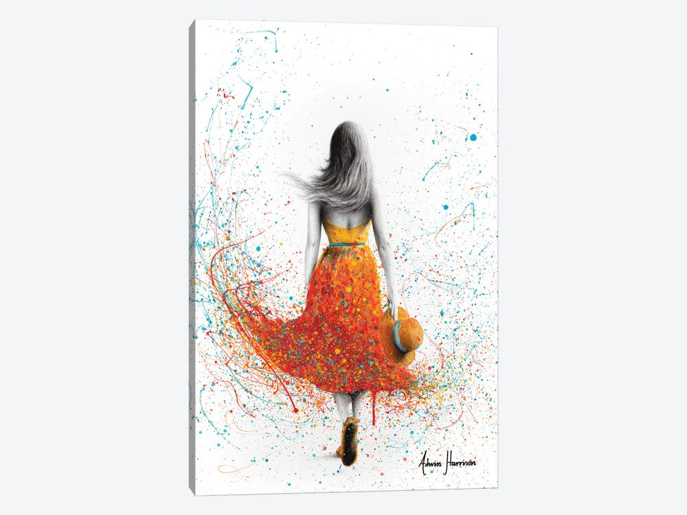 Her Sunset Walk by Ashvin Harrison 1-piece Canvas Art Print