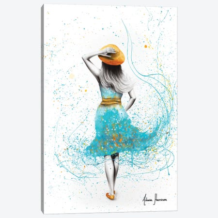 Her Morning Walk Canvas Print #VIN439} by Ashvin Harrison Canvas Artwork