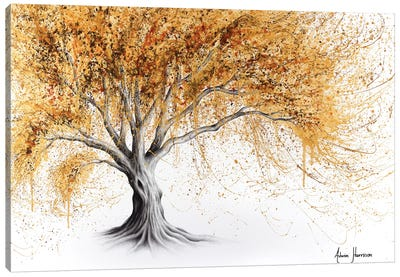 Golden Glow Tree Canvas Art Print