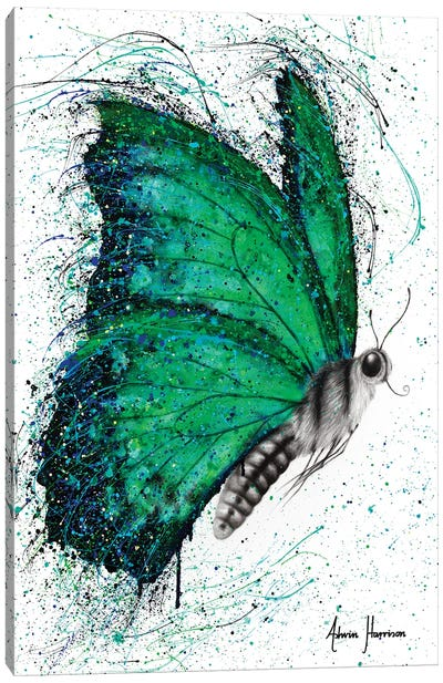 Emerald City Butterfly Canvas Art Print