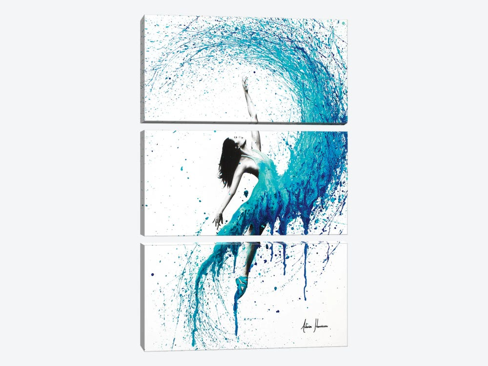 In The Waves 3-piece Art Print