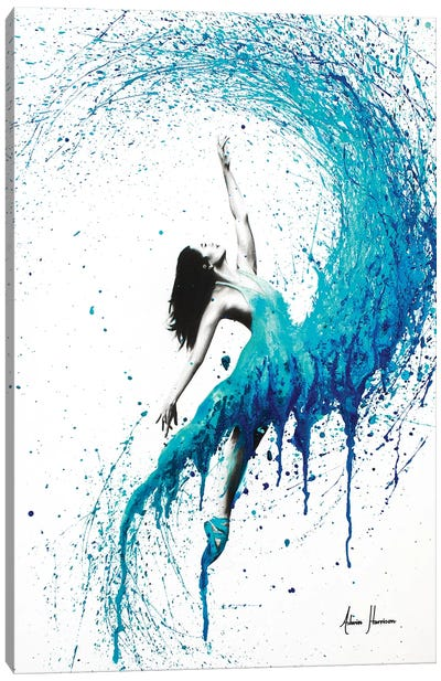 In The Waves Canvas Art Print