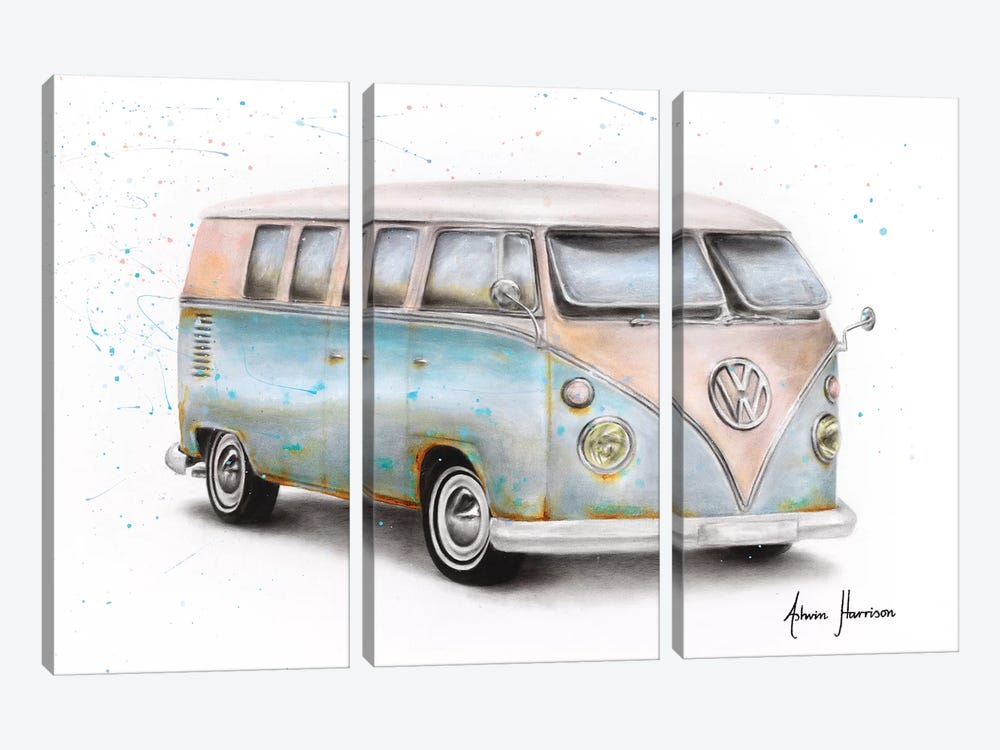 A Journey In Time by Ashvin Harrison 3-piece Canvas Print