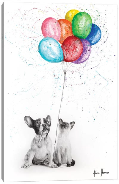 The Eight Balloons Canvas Art Print