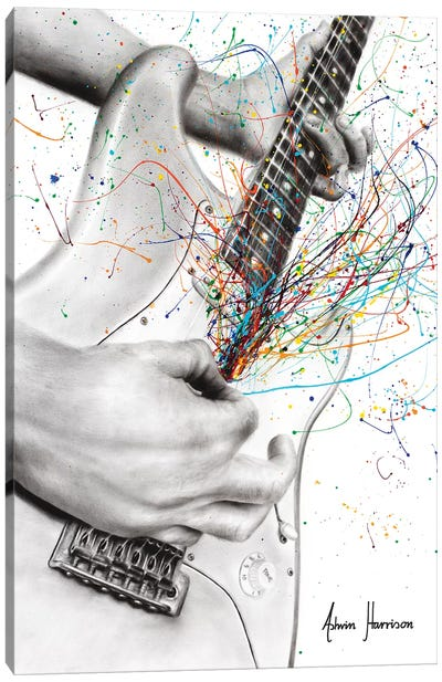 The Guitar Solo Canvas Art Print