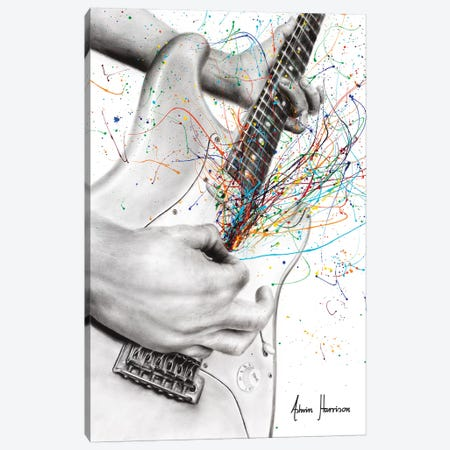 The Guitar Solo Canvas Print #VIN456} by Ashvin Harrison Canvas Art Print