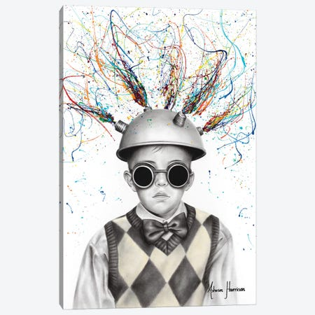 The Ideas Boy Canvas Print #VIN457} by Ashvin Harrison Canvas Art Print