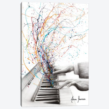 The Keyboard Solo Canvas Print #VIN460} by Ashvin Harrison Canvas Print