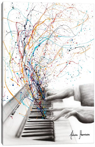 The Keyboard Solo Canvas Art Print