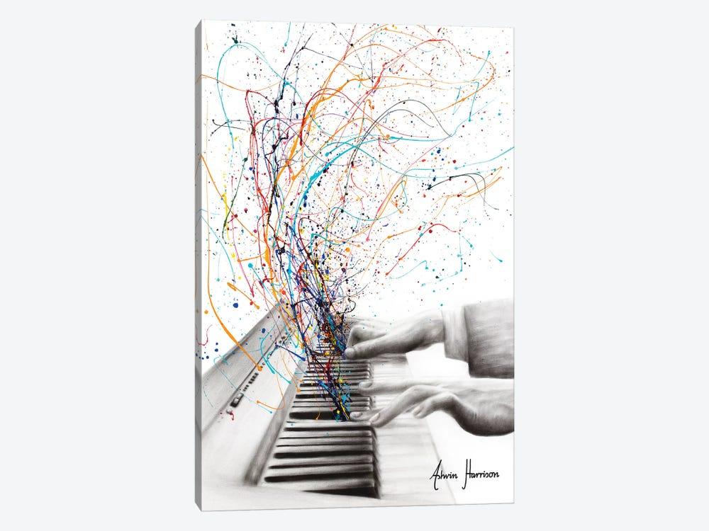 The Keyboard Solo by Ashvin Harrison 1-piece Canvas Print