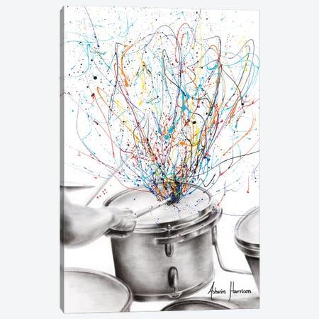 The Drum Solo 3-Piece Canvas #VIN461} by Ashvin Harrison Canvas Art Print