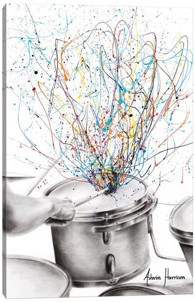 The Drum Solo Canvas Art Print