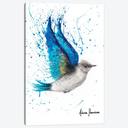 Blue Byron Bird Canvas Print #VIN462} by Ashvin Harrison Art Print