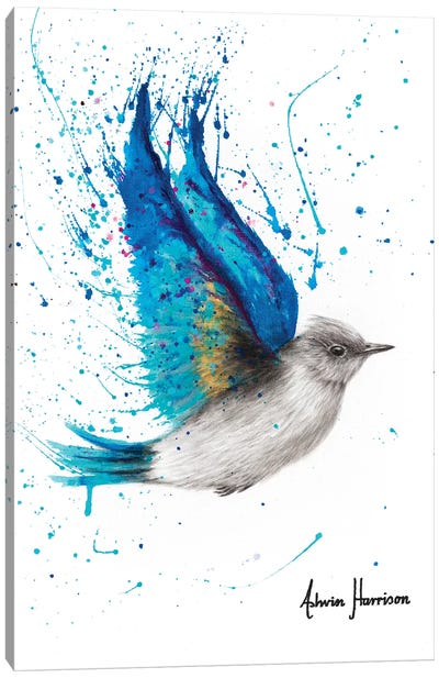 Blue Byron Bird Canvas Art Print