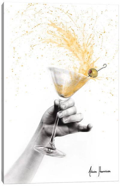 Shaken Martini Canvas Art Print