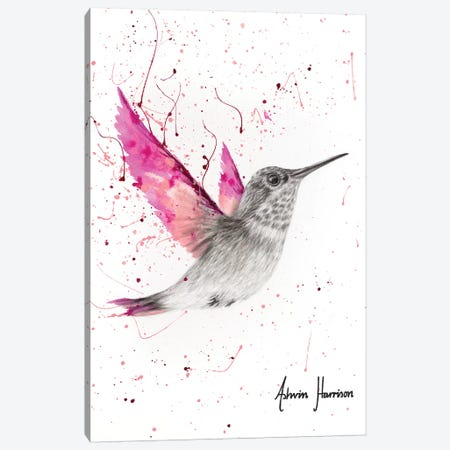 Magenta Rose Bird Canvas Print #VIN466} by Ashvin Harrison Canvas Artwork