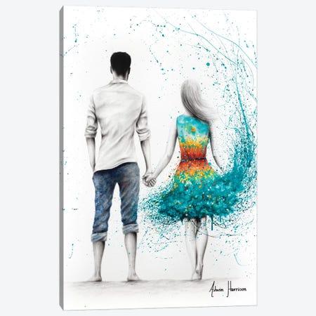 Ocean Sunset Love Canvas Print #VIN470} by Ashvin Harrison Canvas Art