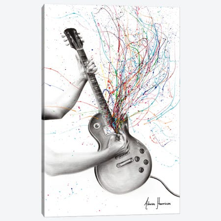 The Star Guitar Canvas Print #VIN472} by Ashvin Harrison Canvas Wall Art