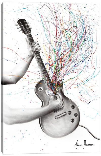 The Star Guitar Canvas Art Print
