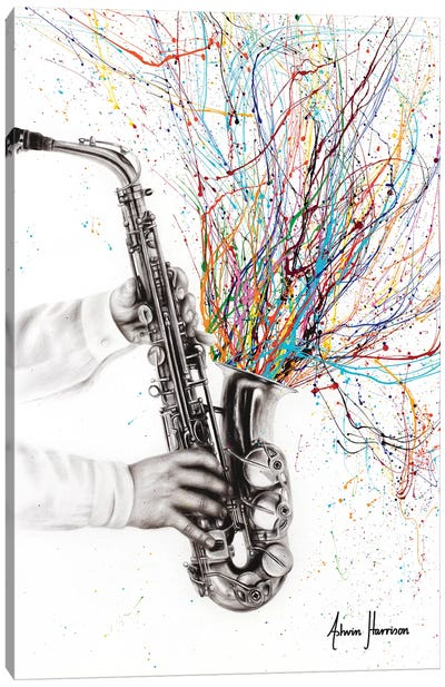 The Jazz Saxophone Canvas Art Print