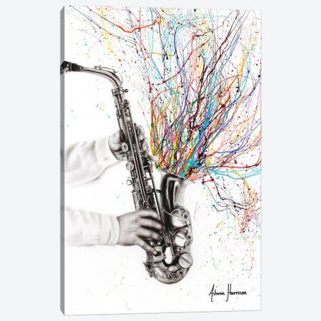 The Jazz Saxophone Canvas Print #VIN475} by Ashvin Harrison Canvas Print