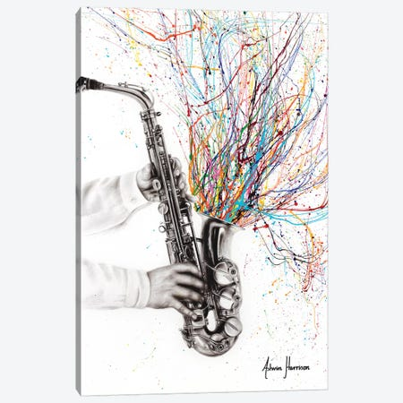 The Jazz Saxophone Canvas Print #VIN475} by Ashvin Harrison Canvas Print
