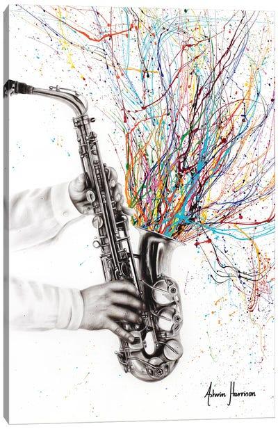 The Jazz Saxophone Canvas Art Print